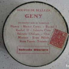 Antigüedades: ANTIGUA CAJA DE POLVOS DE BELLEZA GENI SIN ESTRENAR AÑOS 1920. Lote 260794440