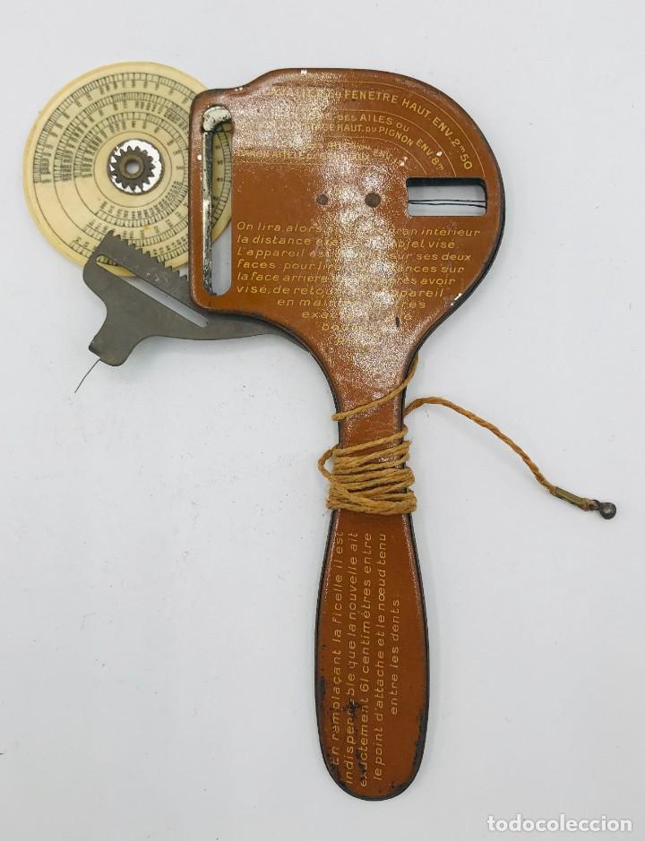 Antigüedades: Telémetro francés con sistema Hopper para medir distancias de tiro,comercializado 1ª Guerra Mundial - Foto 4 - 260872020