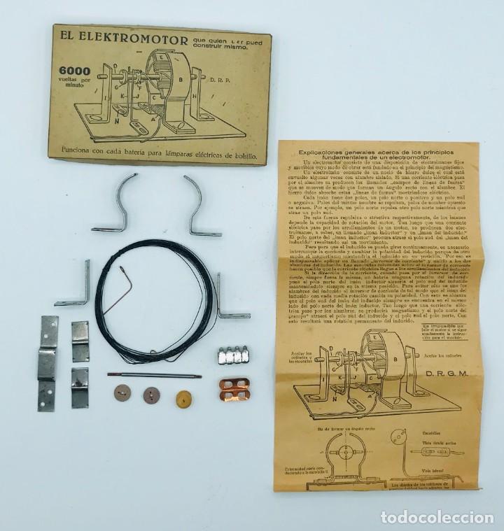 """""""EL ELEKTROMOTOR"""", PIEZAS PARA CONSTURIR UN ELECTORMOR DE 6000 VUELTAS POR MINUTO. (Antigüedades - Técnicas - Varios)"""
