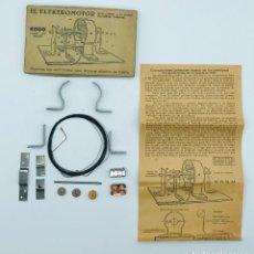 """Antigüedades: """"EL ELEKTROMOTOR"""", PIEZAS PARA CONSTURIR UN ELECTORMOR DE 6000 VUELTAS POR MINUTO.. Lote 260872585"""