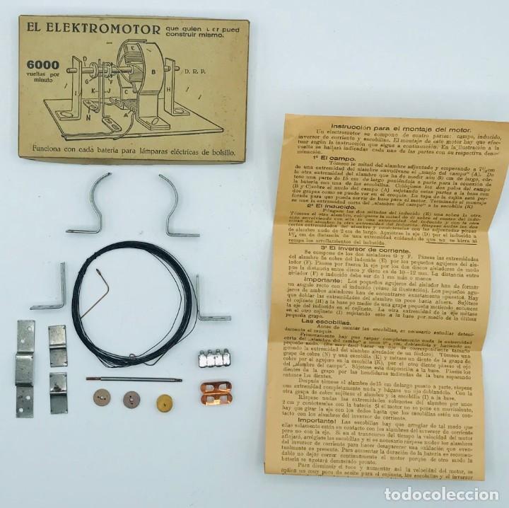 """Antigüedades: """"El Elektromotor"""", piezas para consturir un electormor de 6000 vueltas por minuto. - Foto 3 - 260872585"""