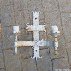 Antigüedades: LAMPARA HIERRO FORJADO. Lote 261227030