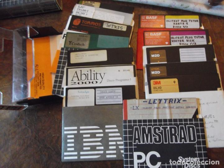 """LOTE DISCOS PROGRAMAS ANTIGUOS 51/4"""" (Antigüedades - Técnicas - Ordenadores hasta 16 bits (anteriores a 1982))"""