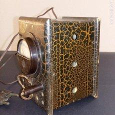 Antigüedades: ELEVADOR REDUCTOR ELECTRICIDAD AICER - MODELO Nº 56 - 13 X 9 CMS. Lote 261338975