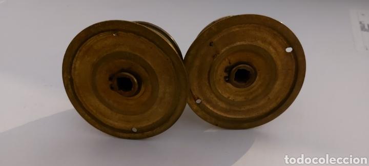Antigüedades: POMOS DE LATÓN PARA PUERTA DE ENTRADA - Foto 7 - 261576725