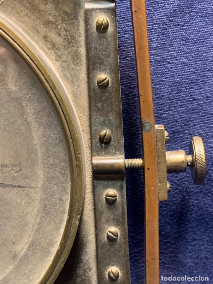 Antigüedades: BRUJULA NAUTICA MOVIL BRONCE S XIX A SANTI MARSEILLE FRANCIA 24X28CMS - Foto 4 - 261660165