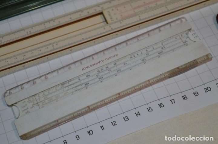Antigüedades: Preciosas, 2 ANTIGUAS REGLAS de CÁLCULO Germany / Marcas FABER - CASTELL y otra ARISTO ¡Mira! - Foto 4 - 261699130