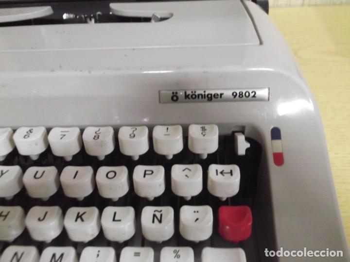 Antigüedades: Maquina de escribir Ö Königer 9802. - Foto 3 - 261832815