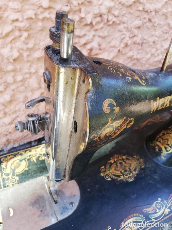 Antigüedades: Antigua máquina de coser Wertheim. - Foto 4 - 261909795