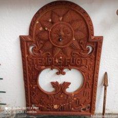 Antigüedades: RELOJ SOLAR DE HIERRO FORJADO A LIMPIAR Y RESTAURAR.28× 42CENTIMETROS. Lote 261932335