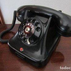 Teléfonos: ANTIGUO Y RARO TELÉFONO DE MESA DANÉS MARCA JYDSK 47 E DE BAQUELITA FABRICADO AÑO DE 1953 Y FUNCIONA. Lote 261969410