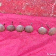 Antigüedades: LOTE CLAVOS ANTIGUOS,FORJA,HIERRO,CABEZA ENORME. Lote 261980855