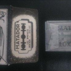 Antigüedades: HOJA DE AFEITAR - CUCHILLA DE AFEITAR - MATADOR - NUEVA CON SU HOJA. Lote 261983310