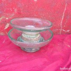 Antigüedades: AISLADOR ELECTRICIDAD ENORME,PESARA UNOS 5 A 6 KILOS,CRISTAL. Lote 261985015
