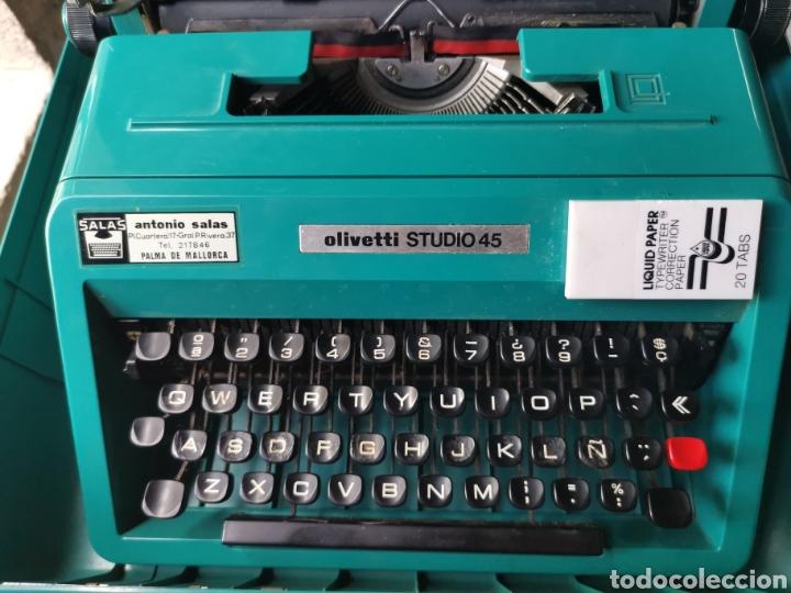 Antigüedades: Máquina de escribir olivetti studio 45 - Foto 5 - 262005915