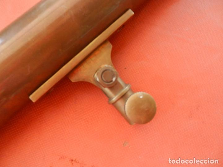 Antigüedades: ANTIGUO TELESCOPIO EN BRONCE Y COBRE - VER FOTOS - MIDE 96 CM. - Foto 3 - 262042000