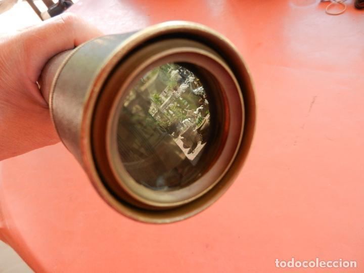 Antigüedades: ANTIGUO TELESCOPIO EN BRONCE Y COBRE - VER FOTOS - MIDE 96 CM. - Foto 5 - 262042000