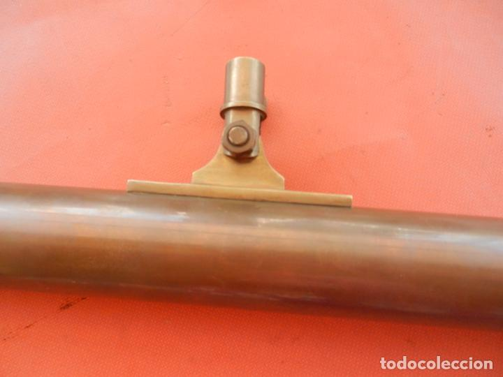 Antigüedades: ANTIGUO TELESCOPIO EN BRONCE Y COBRE - VER FOTOS - MIDE 96 CM. - Foto 6 - 262042000