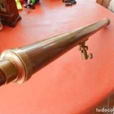 Antigüedades: ANTIGUO TELESCOPIO EN BRONCE Y COBRE - VER FOTOS - MIDE 96 CM.. Lote 262042000