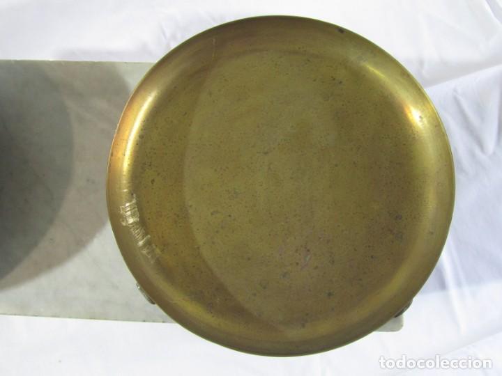 Antigüedades: Báscula o balanza madera y mármol, bandejas de latón, Alfonso García Constructor Madrid 10 kg - Foto 6 - 262059510