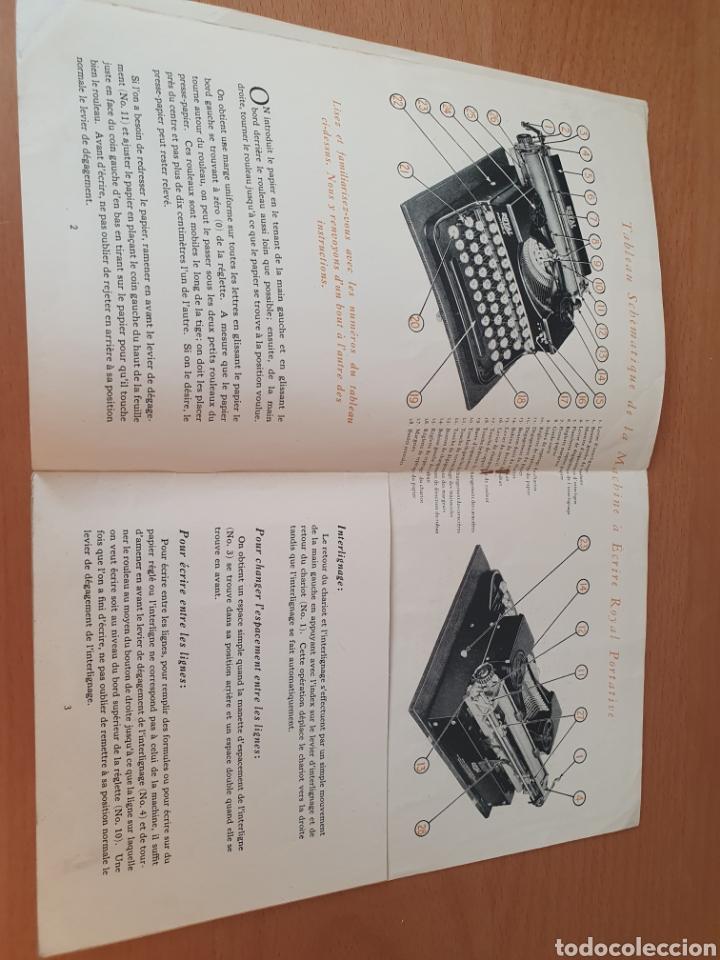 Antigüedades: ¡¡¡ULTIMA SUBASTA!!! LIQUIDACION Instrucciones maquina de escribir - ROYAL PORTABLE - 1926 FRANCÉS - Foto 3 - 262113440