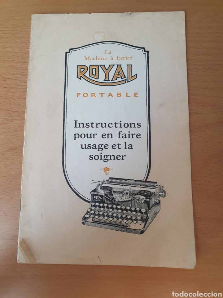 ¡¡¡ULTIMA SUBASTA!!! LIQUIDACION INSTRUCCIONES MAQUINA DE ESCRIBIR - ROYAL PORTABLE - 1926 FRANCÉS (Antigüedades - Técnicas - Máquinas de Escribir Antiguas - Otras)