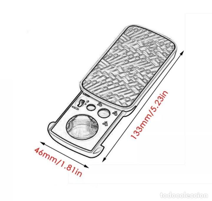 Antigüedades: LUPA CON UV LUZ DEL LED, 30X, 60X Y LAUMENTOS PARA JOYERÍA, NUMISMÁTICA, FILATLIA ETC. SIN ESTRENAR. - Foto 2 - 262137120