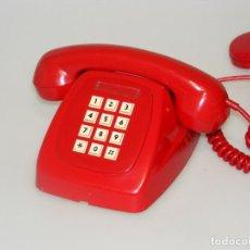 Téléphones: TELÉFONO VINTAGE ROJO DE SOBREMESA CON TECLADO - CITESA - BUEN ESTADO.. Lote 262252945