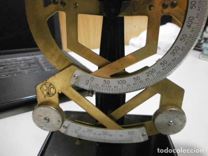 Antigüedades: balanza pesa cartas años 30 40 completa buen estado - Foto 3 - 262256625