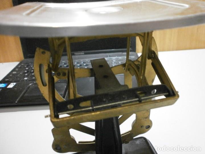 Antigüedades: balanza pesa cartas años 30 40 completa buen estado - Foto 5 - 262256625