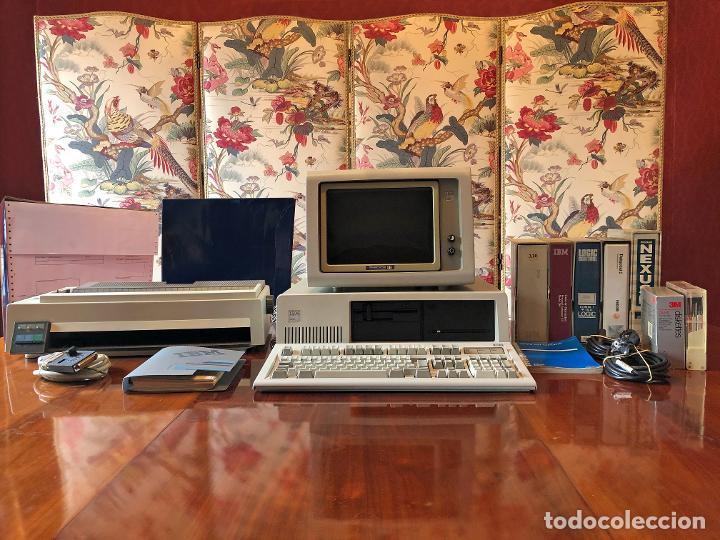 IBM XT MODEL 286 - CPU 5162 / MONITOR 5151 / TECLADO XT-286 515X / IMPRESORA 4202 / RECIBOS LOGIC (Antigüedades - Técnicas - Ordenadores hasta 16 bits (anteriores a 1982))