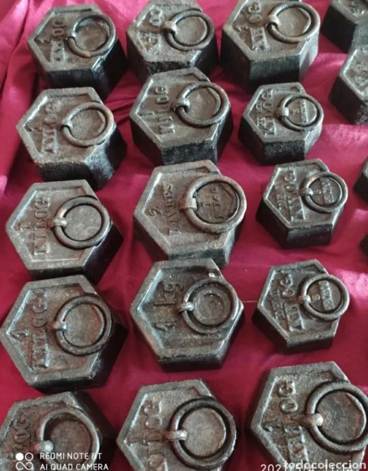 Antigüedades: Increíble lote de pesas antiguas - Foto 2 - 262302435