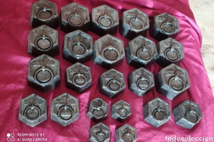 INCREÍBLE LOTE DE PESAS ANTIGUAS (Antigüedades - Técnicas - Medidas de Peso - Balanzas Antiguas)