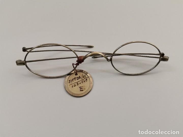 JOY-1618. MONTURA PARA GAFAS DE NIQUEL. PRINCIPIOS .XX. (Antigüedades - Técnicas - Instrumentos Ópticos - Gafas Antiguas)