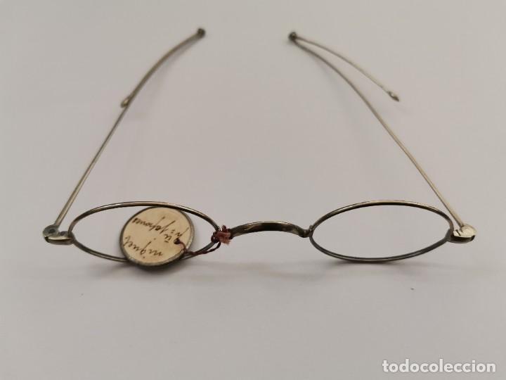 Antigüedades: JOY-1618. MONTURA PARA GAFAS DE NIQUEL. PRINCIPIOS .XX. - Foto 3 - 262382660