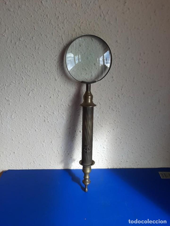 (VID-210500)LUPA ALFONSINA GRANDES DIMENSIONES (Antigüedades - Técnicas - Instrumentos Ópticos - Lupas Antiguas)