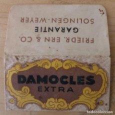 Antigüedades: SÓLO FUNDA - HOJA AFEITAR DAMOCLES EXTRA - SÓLO FUNDA. Lote 262542755