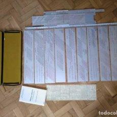 Antigüedades: RECTIFICADO GRAN REGLA DE CALCULO MECANIZADO CON ABRASIVO GRINDING ABRASIVE MACHINE TOOL SLIDE RULE. Lote 262586170