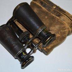 Antigüedades: PRISMÁTICOS BINOCULARES TAMAÑO MEDIO CON ESTUCHE ORIGINAL - LOTE 0003. Lote 262601030