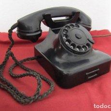 Teléfonos: TELÉFONO DE MESA ALEMÁN ANTIGUO DE BAQUELITA MODELO W36 HECHO EN ALEMANIA A PARTIR FINALES AÑOS 30. Lote 262612805