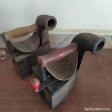 Antigüedades: DOS PLANCHAS DE CARBÓN LICSA. ELORRIO (VIZCAYA). Lote 262634150