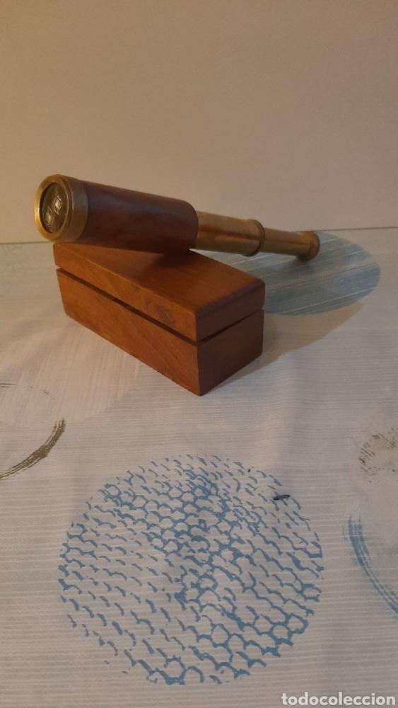 CATALEJO CON CAJA ORIGINAL (Antigüedades - Técnicas - Instrumentos Ópticos - Catalejos Antiguos)