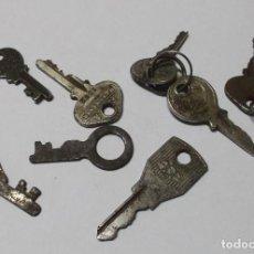 Antigüedades: LOTE DE LLAVES DE CANDADOS, CAJAS O MALETAS. Lote 262642485