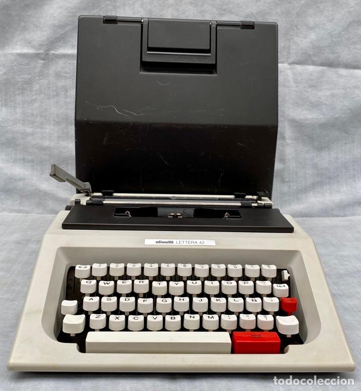 OLIVETTI. MÁQUINA DE ESCRIBIR OLIVETTI LETTERA 42 ANTIGUA (Antigüedades - Técnicas - Máquinas de Escribir Antiguas - Olivetti)