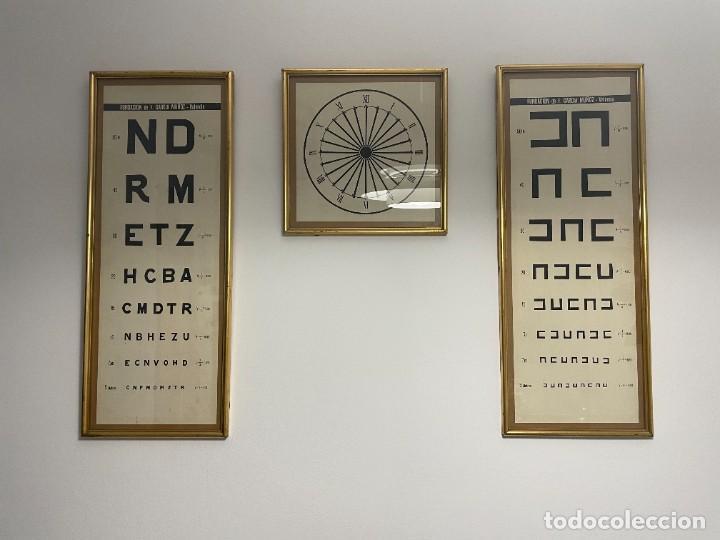 LAMINAS OPTOTIPO - OPTICA DE CONSULTA MEDICA (Antigüedades - Técnicas - Otros Instrumentos Ópticos Antiguos)