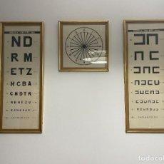 Antigüedades: LAMINAS OPTOTIPO - OPTICA DE CONSULTA MEDICA. Lote 262692645