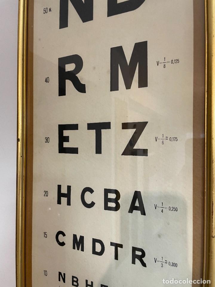 Antigüedades: LAMINAS OPTOTIPO - OPTICA DE CONSULTA MEDICA - Foto 8 - 262692645