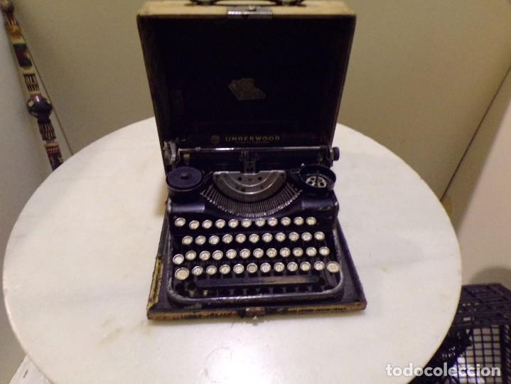 MAQUINA DE ESCRIBIR PORTATIL CON SU MALETA DE MADERA UNDERWOOD (Antigüedades - Técnicas - Máquinas de Escribir Antiguas - Underwood)