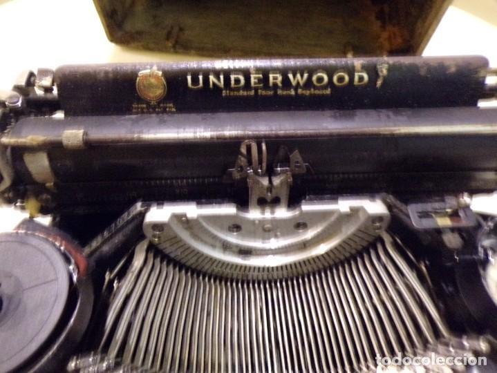 Antigüedades: maquina de escribir portatil con su maleta de madera underwood - Foto 3 - 262692660
