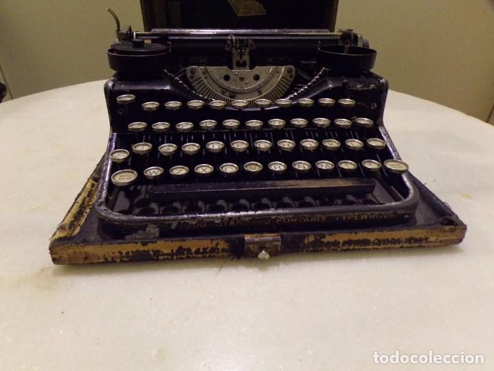 Antigüedades: maquina de escribir portatil con su maleta de madera underwood - Foto 6 - 262692660